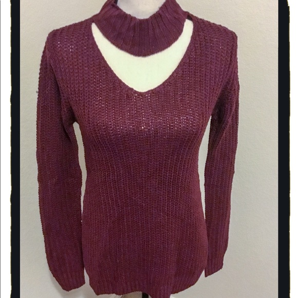 d79c2ae9fd Planet Gold XS Windsor Wine Collared Sweater